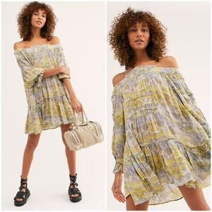 Free People   See Ya There Mini Dress Yellow Med